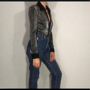 🌼NEW🌼 Metallic button down blouse